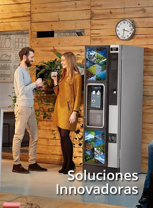soluciones innovadoras en maquinas de cafe, expendedoras de alimentos para oficinas